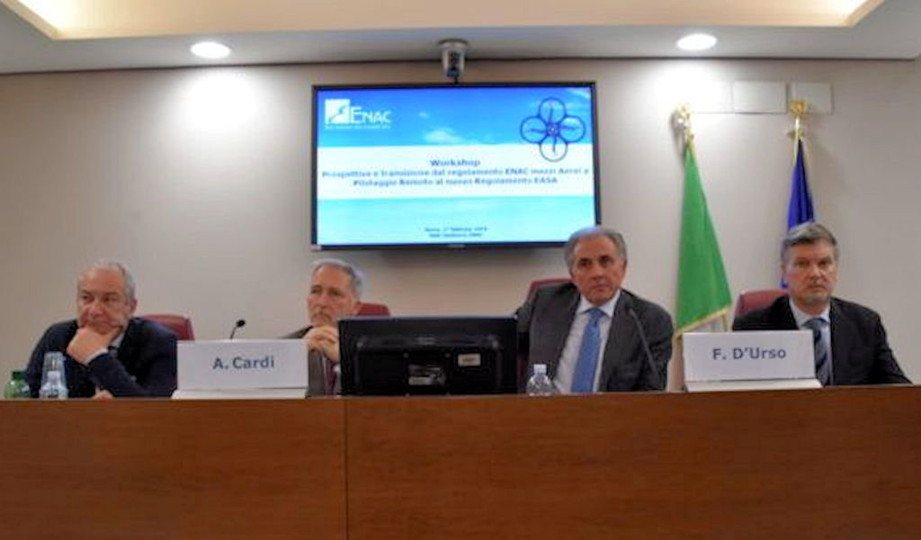 Read more about the article Workshop in ENAC per le nuove regole EASA dei droni